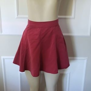 Maroon skater high waisted skirt micromodal soft